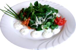 Salat zum Zwickauer Bürgersteak