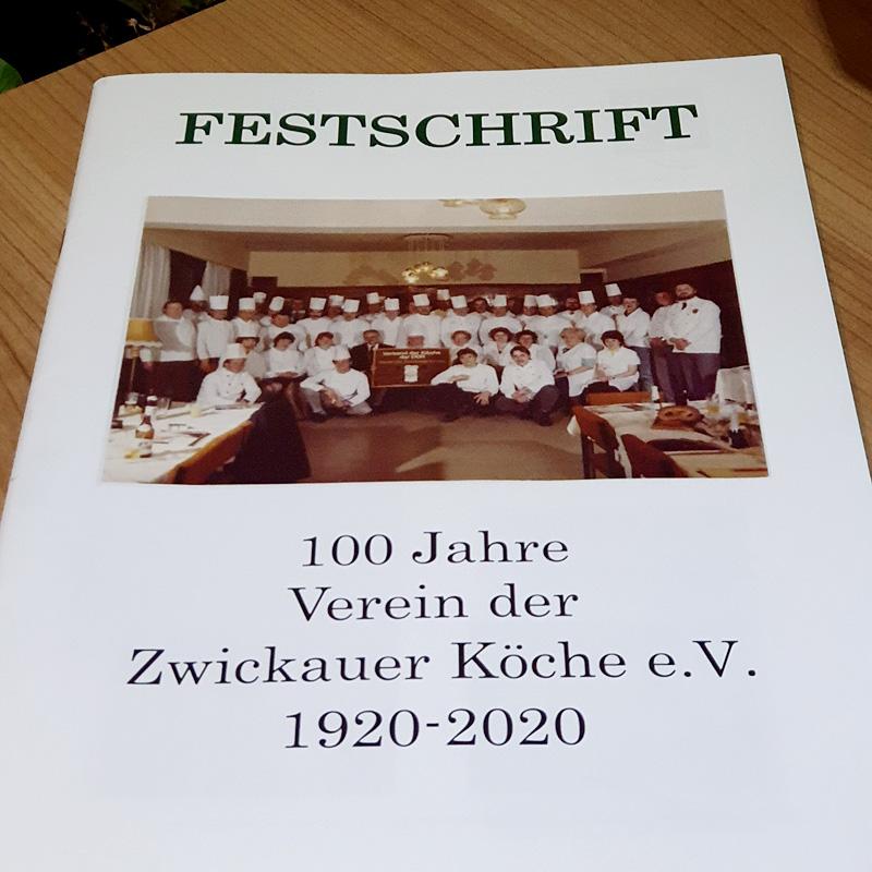 Die Festschrift des Verein der Zwickauer Köche e.V. zum 100. Geburtstag